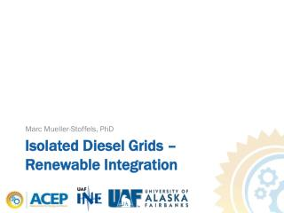 Isolated Diesel Grids – Renewable Integration