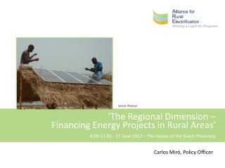 'The Regional Dimension –  Financing Energy Projects in Rural Areas'