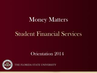 Money Matters Student Financial Services
