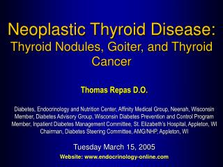 Thomas Repas D.O. Diabetes, Endocrinology and Nutrition Center, Affinity Medical Group, Neenah, Wisconsin