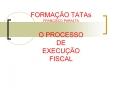 FORMA O TATAs FRANCISCO PARALTA O PROCESSO DE EXECU O FISCAL