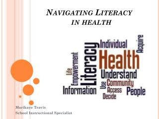 Navigating Literacy   in health