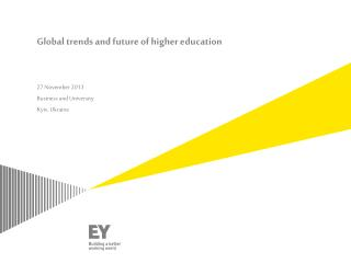 Global trends and future of higher education