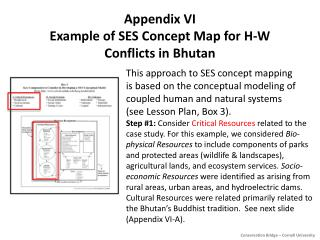 Appendix VI Example of SES Concept Map for H-W Conflicts in Bhutan