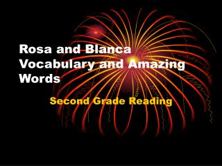 Rosa and Blanca Vocabulary and Amazing Words