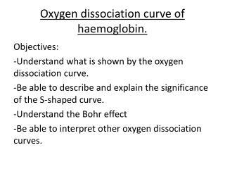 Oxygen dissociation curve of haemoglobin.