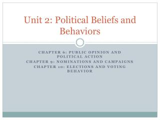 Unit 2: Political Beliefs and Behaviors