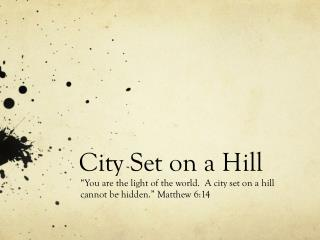 City Set on a Hill