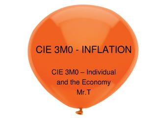 CIE 3M0  - INFLATION