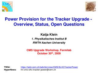 Power Provision for the Tracker Upgrade -  Overview, Status, Open Questions
