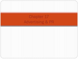 Chapter  17 Advertising & PR