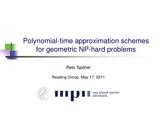 Polynomial-time approximation schemes for geometric NP-hard problems