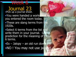 Week 6  Journal 23