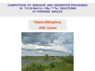 COMPETITION  OF  BREAKUP  AND  DISSIPATIVE PROCESSES
