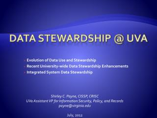 Data Stewardship @  uva