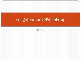 Enlightenment HW  Takeup
