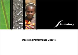Operating Performance Update