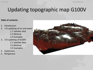 Updating topographic map G100V