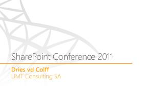 SharePoint Conference 2011