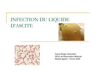 INFECTION DU LIQUIDE D'ASCITE