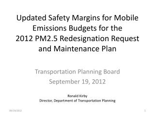 Transportation Planning Board September 19, 2012