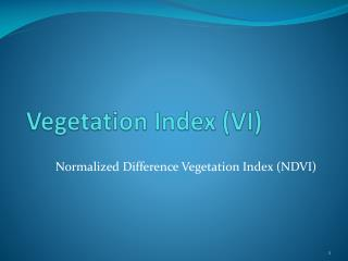 Vegetation Index (VI)