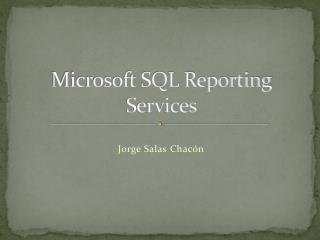 Microsoft SQL Reporting Services