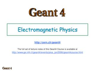 Electromagnetic Physics
