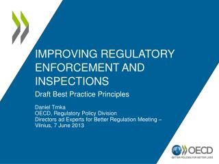 Improving Regulatory Enforcement and Inspections