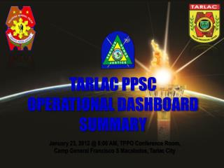 January 23, 2012 @ 8:00 AM, TPPO Conference Room,