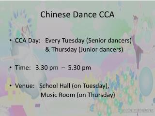 Chinese Dance CCA