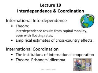 Lecture  19 Interdependence & Coordination