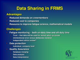 Data Sharing in FRMS