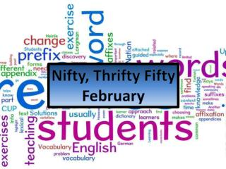 Nifty, Thrifty Fifty February