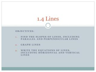 1.4 Lines