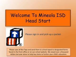 Welcome To Mineola ISD  Head Start