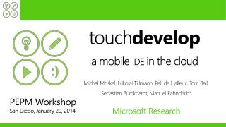 touch develop a mobile  IDE  in the cloud
