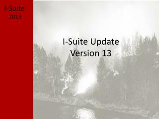 I-Suite Update Version 13