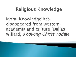 Religious Knowledge