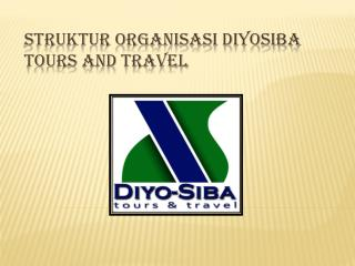 STRUKTUR ORGANISASI DIYOSIBA TOURS AND TRAVEL