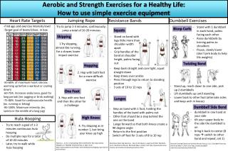 Aerobic and Strength Exercises for a Healthy Life: How to use simple exercise equipment