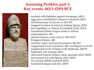 worked with  Ephialtes  against  Areopagus , 462/1