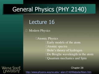 Chapter 23  The Early Atom  Quantum Physics