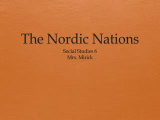 The Nordic Nations