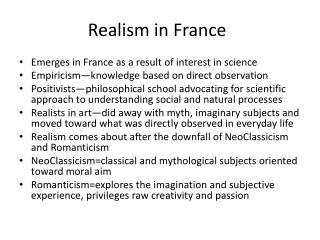 Realism in France