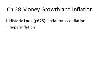 Ch 28 Money Growth and Inflation