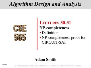 Algorithm Design and Analysis