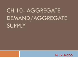 Ch.10- Aggregate Demand/Aggregate Supply