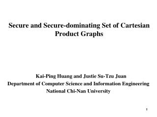 Secure and Secure-dominating Set of Cartesian Product Graphs