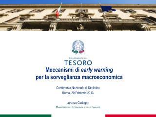 Meccanismi di early warning per la sorveglianza macroeconomica